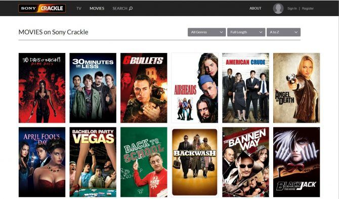 Best free movie streaming sites - Crackle