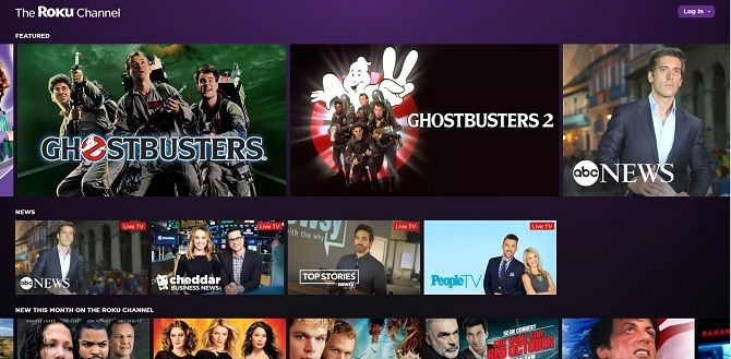 Best free movie streaming sites-Roku channel