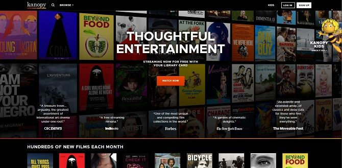 Best free movies streaming sites - Kanopy