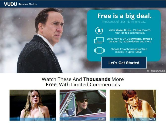 Best free movie streaming sites - Vudu movies about us