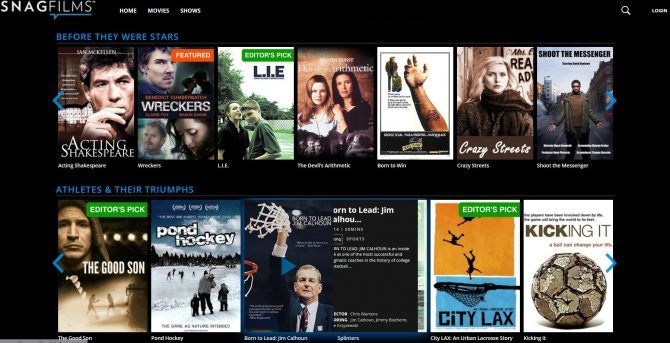 Best free movie streaming sites-SnagFilms