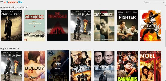 Top free movie streaming sites-Popcornflix