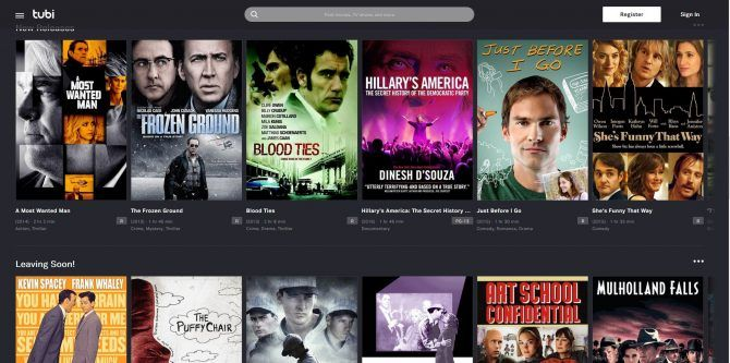 Best free movie streaming sites - Tubi TV